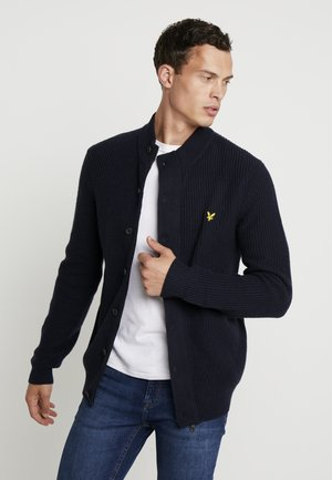 ZIP THROUGH FUNNEL NECK - Strikjakke /Cardigans - dark navy
