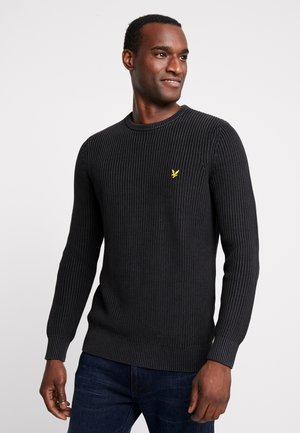 RIBBED JUMPER - Sweter - true black