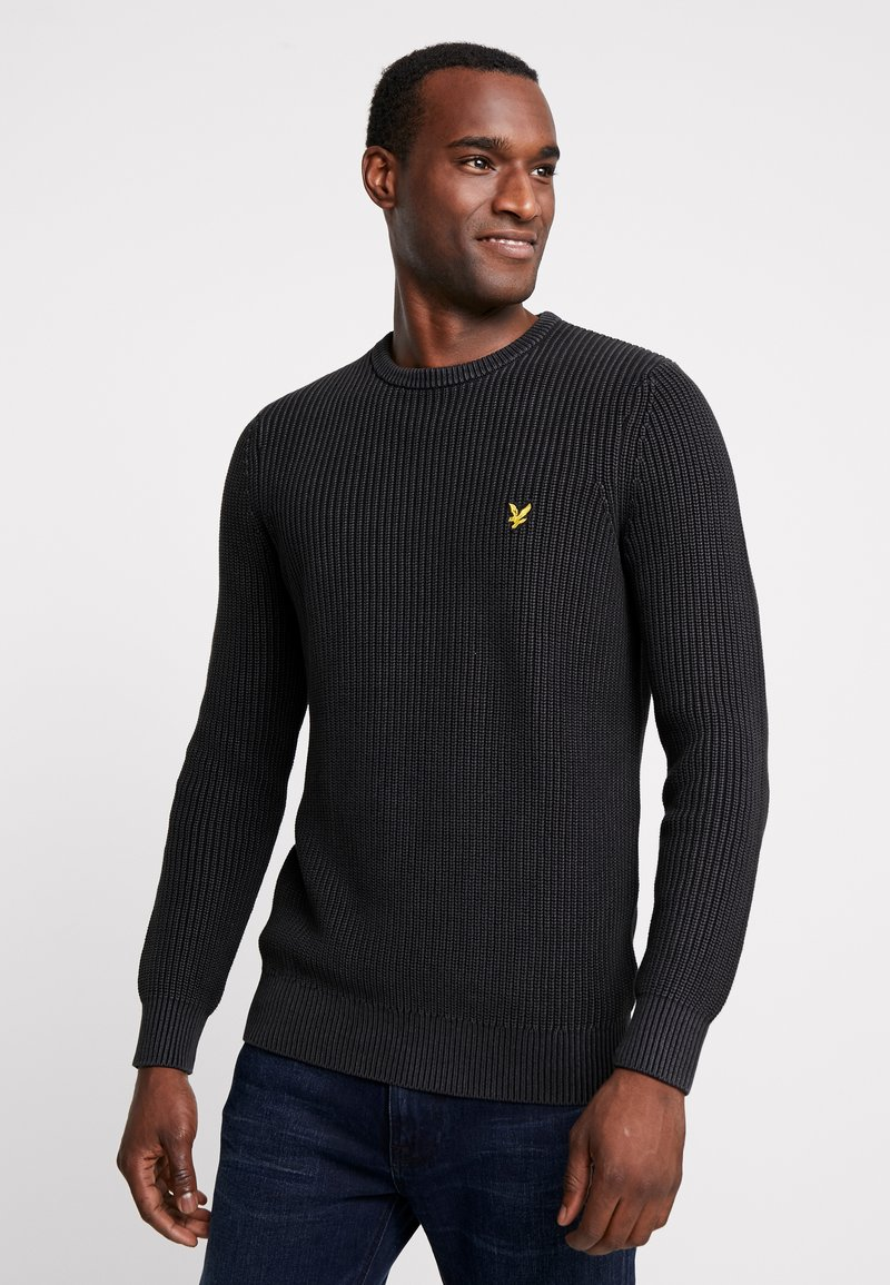 Lyle & Scott - RIBBED JUMPER - Strickpullover - true black
