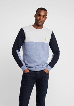 COLOURBLOCK CREW - Pullover - stone blue