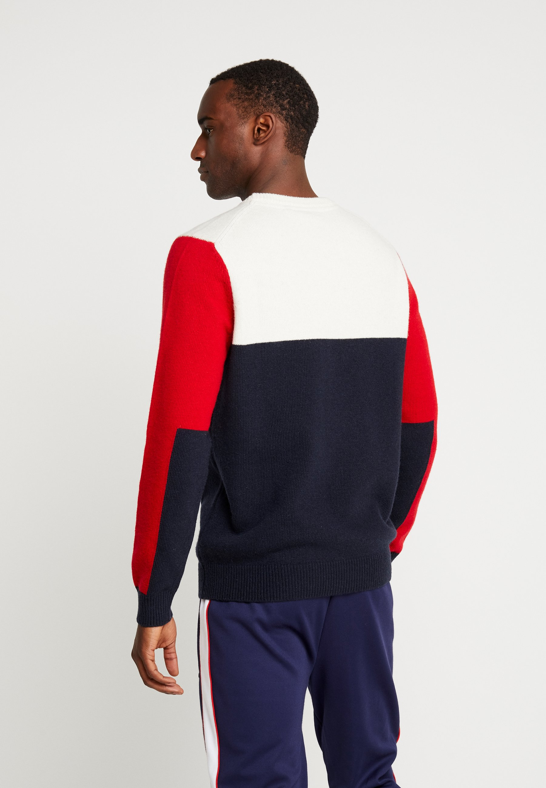 Lyleamp; Navy Dark Scott Colourblock CrewPullover e2IWEYDH9b