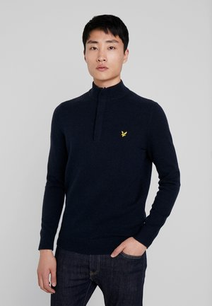 ZIP TIPPED FUNNEL NECK - Sweter - dark navy