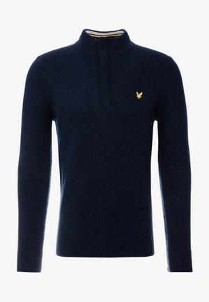 ZIP TIPPED FUNNEL NECK - Stickad tröja - dark navy