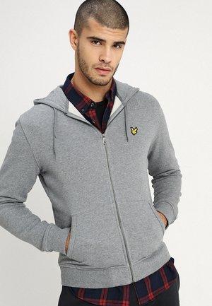 ZIP THROUGH HOODIE - Zip-up hoodie - mid grey marl