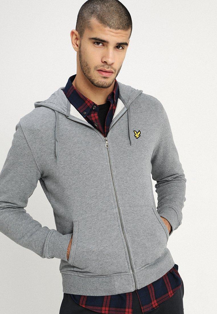 Lyle & Scott - ZIP THROUGH HOODIE - veste en sweat zippée - mid grey marl