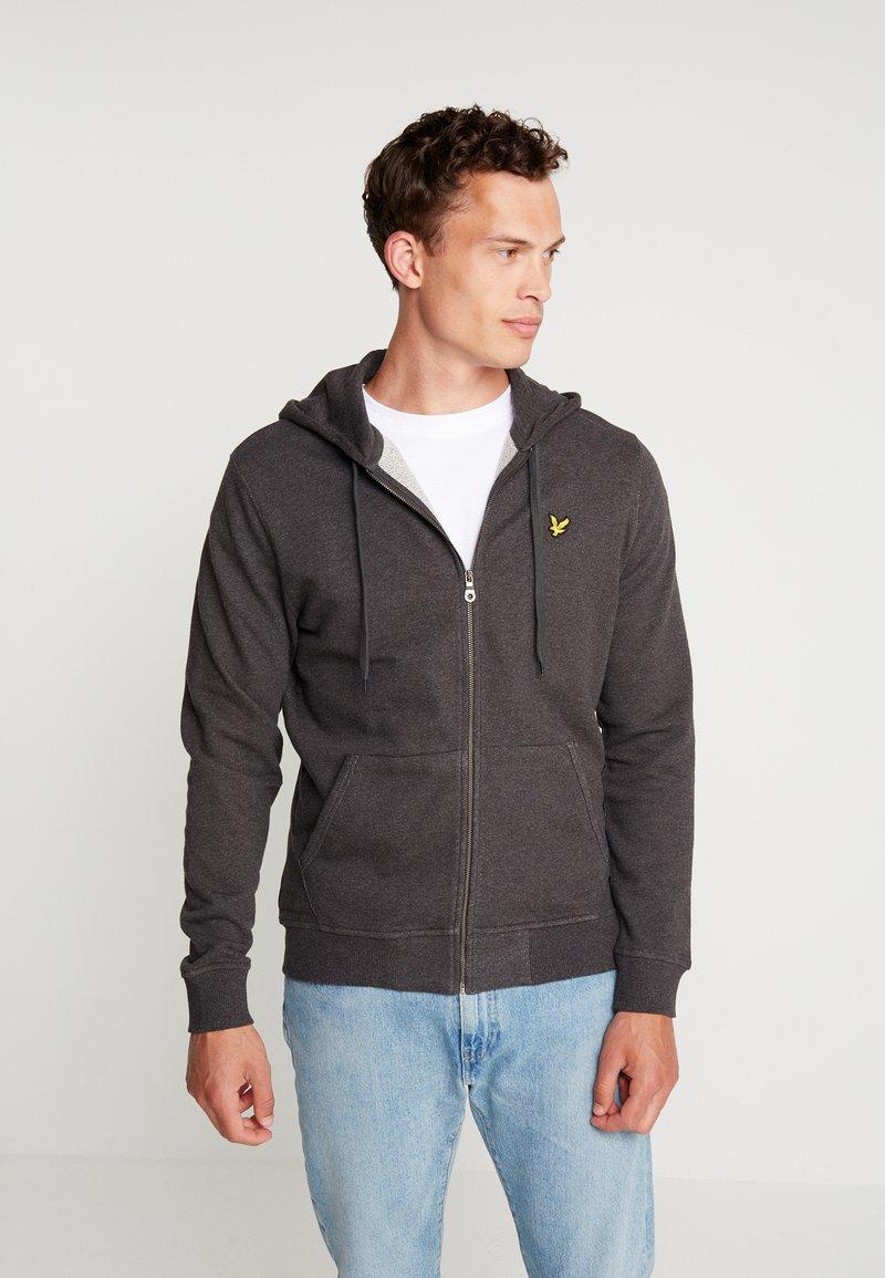 Lyle & Scott - ZIP THROUGH HOODIE - veste en sweat zippée - charcoal marl