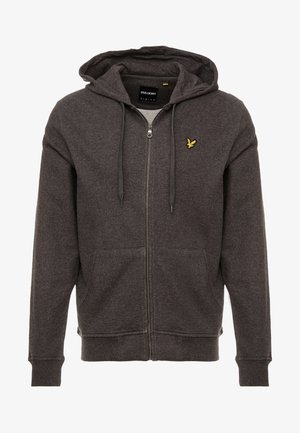 ZIP THROUGH HOODIE - Huvtröja med dragkedja - charcoal marl
