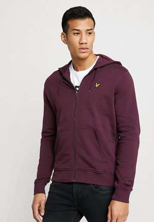 ZIP THROUGH HOODIE - Sudadera con cremallera - burgundy