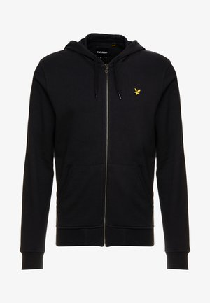 ZIP THROUGH HOODIE - Collegetakki - true black