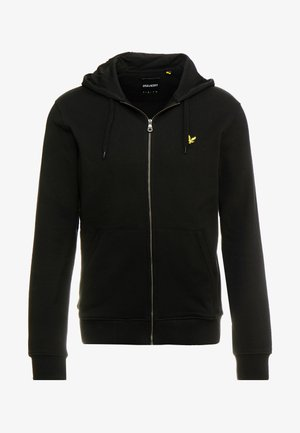 ZIP THROUGH HOODIE - Zip-up hoodie - jet black