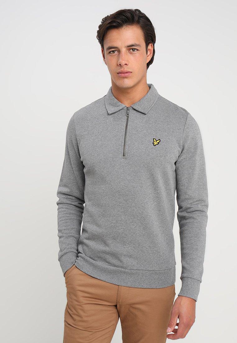 Lyle & Scott - COLLARED - Sweatshirt - mid grey marl