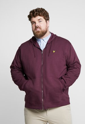 ZIP THROUGH HOODIE - Hoodie met rits - burgundy