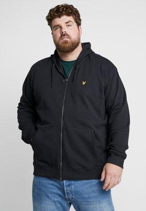 ZIP THROUGH HOODIE - veste en sweat zippée - true black