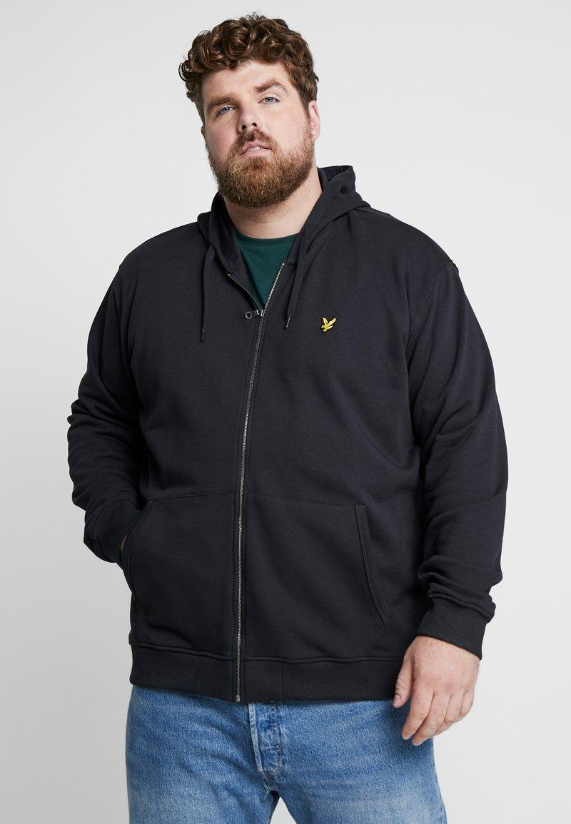 Lyle & Scott - ZIP THROUGH HOODIE - Zip-up hoodie - true black