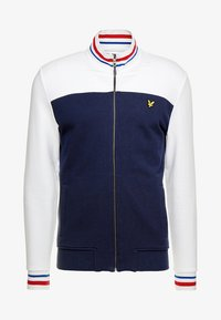 Lyle & Scott - TIPPED FUNNEL NECK - Collegetakki - navy