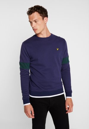 TIPPED CREW NECK - Sweater - navy