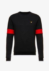 Lyle & Scott - TIPPED CREW NECK - Sweatshirt - true black - 3
