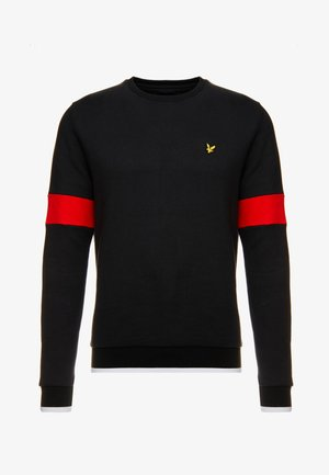 TIPPED CREW NECK - Sweater - true black