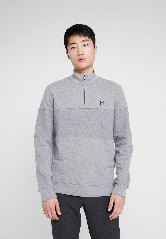 CONTRAST PANEL FUNNEL NECK - Sweater - mid grey