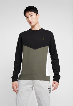MULTI PANEL - Sweater - true black/ olive