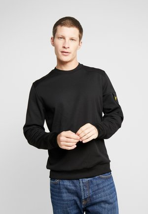 POCKET CREW NECK - Longsleeve - true black