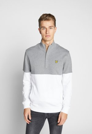 SPLIT FUNNEL NECK - Collegepaita - mid grey marl