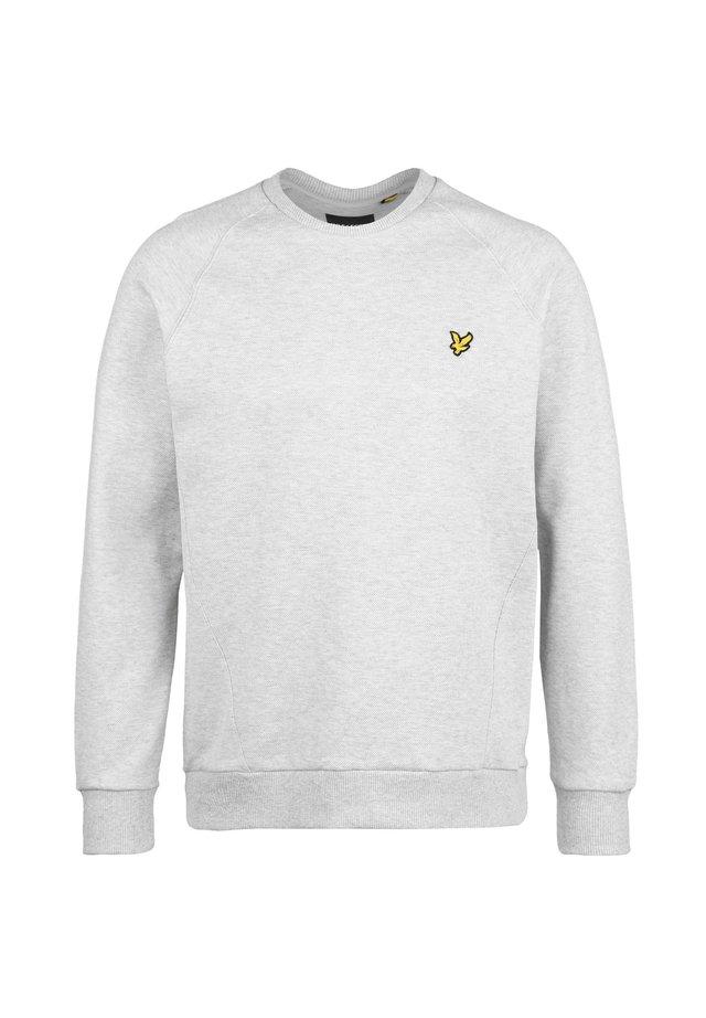 RAGLAN PIQUE SWEATSHIRT HERREN - Sweater - light grey marl
