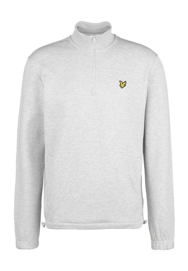 PIQUE 1/4 ZIP SWEATSHIRT HERREN - Sweater - light grey marl