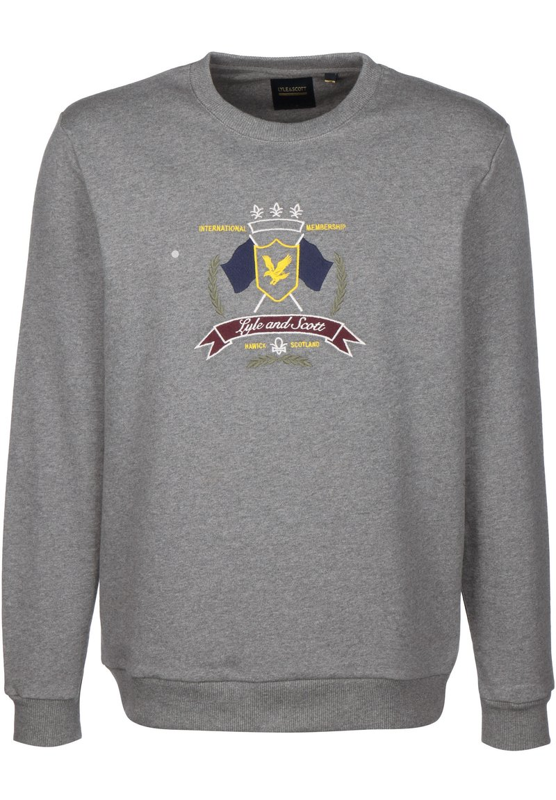 Lyle & Scott - CREST - Sweatshirt - mid grey marl