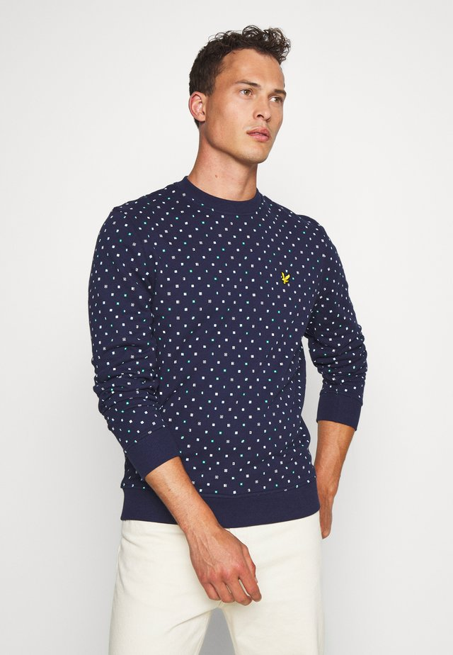 PRINTED - Sweater - navy