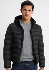 Lyle & Scott - LIGHTWEIGHT PUFFER - Giacca da mezza stagione - true black - 0