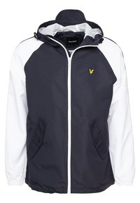 Lyle & Scott - COLOUR BLOCK JACKET - Summer jacket - true black - 4