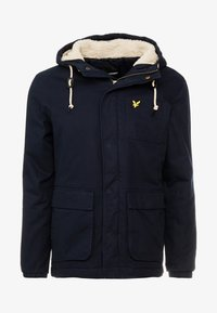 Lyle & Scott - WADDED JACKET WITH FAUX SHEEPSKIN - Overgangsjakker - dark navy - 4