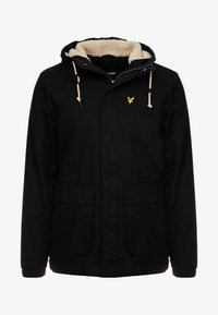 Lyle & Scott - WADDED JACKET WITH FAUX SHEEPSKIN - Välikausitakki - true black - 4