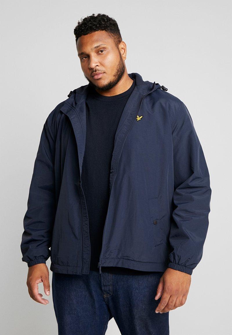 Lyle & Scott - PLUS LINED ZIP THROUGH HOODED - Light jacket - dark navy