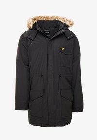 Lyle & Scott - PLUS WINTERWEIGHT  - Zimní kabát - true black - 5