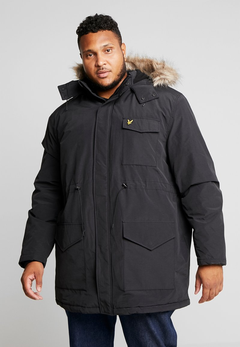 Lyle & Scott - PLUS WINTERWEIGHT  - Zimní kabát - true black