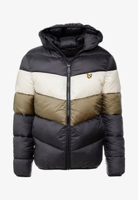 Lyle & Scott - COLOUR BLOCK JACKET - Vinterjacka - true black/olive - 5