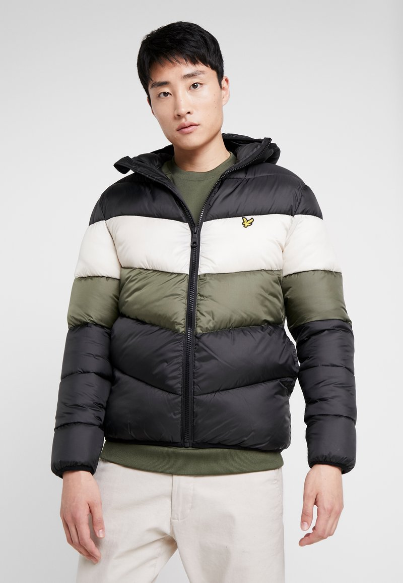 Lyle & Scott - COLOUR BLOCK JACKET - Vinterjacka - true black/olive