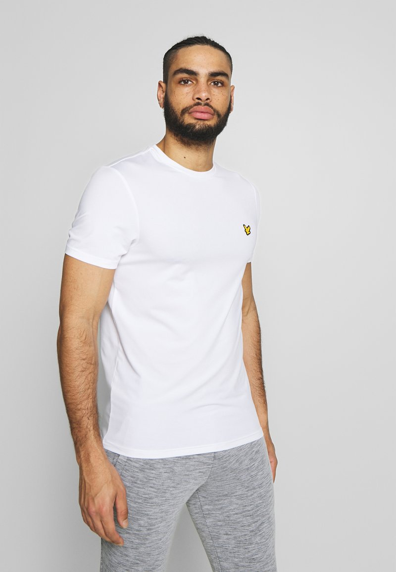 Lyle & Scott - EAGLE TRAIL - Jednoduché triko - white