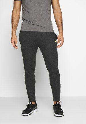 CORE ZIP TRACK PANTS - Tracksuit bottoms - true black marl