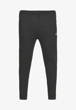 CORE ZIP TRACK PANTS - Trainingsbroek - true black marl