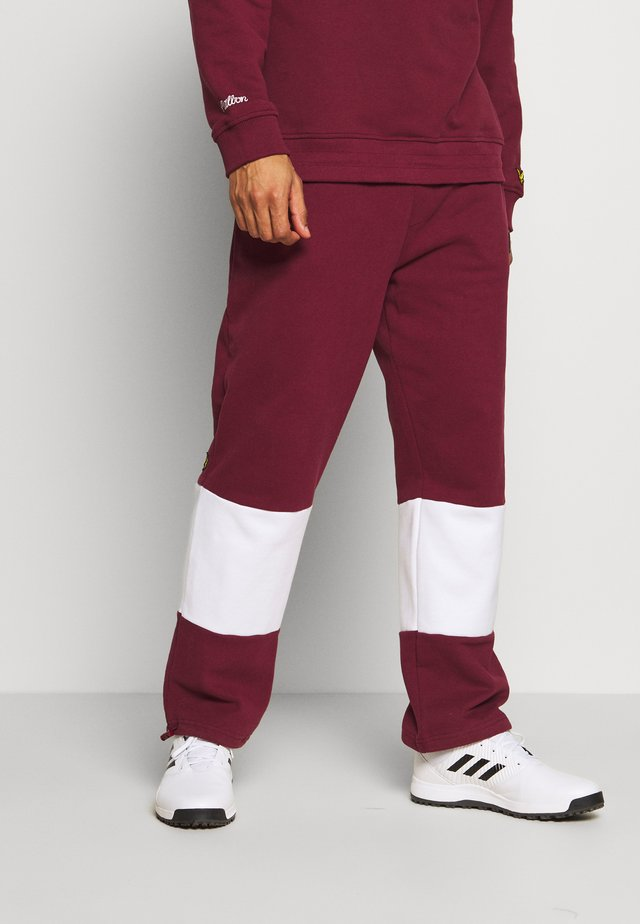 MALBON JOGGERS - Teplákové kalhoty - claret jug