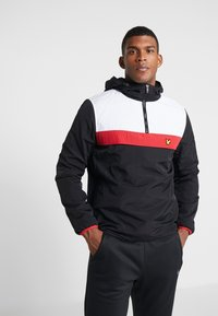 Lyle & Scott - OVERHEAD ANORAK - Trainingsvest - true black - 0