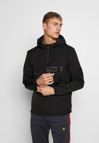 Lyle & Scott - SOLID ULTRA LIGHT ANORAK - Veste coupe-vent - true black - 0