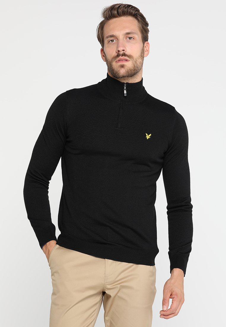 Lyle & Scott - GOLF QUARTER ZIP - Jumper - true black