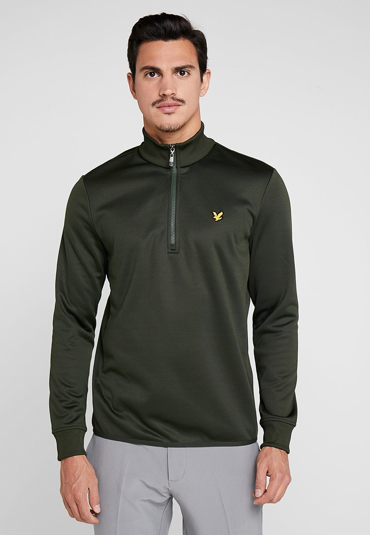 Lyle & Scott - GOLF ZIP MIDLAYER - Fleecetröja - deep spruce