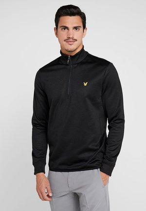 GOLF ZIP MIDLAYER - Fleece trui - true black/thunder grey