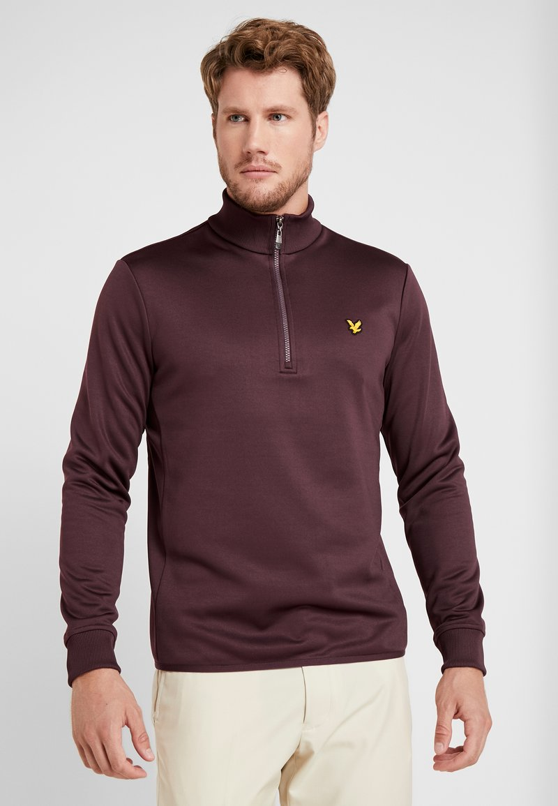 Lyle & Scott - GOLF ZIP MIDLAYER - Forro polar - autumn berry