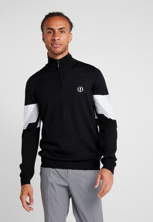 THE OPEN RETRO 1/4 ZIP - Trui - true black